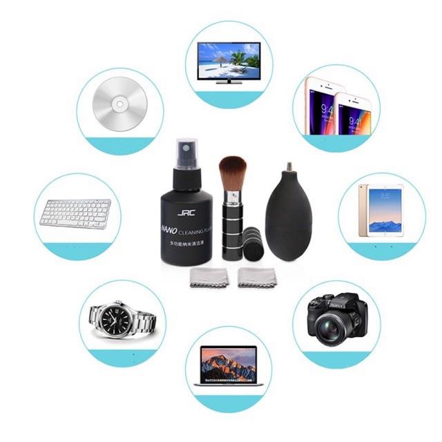 Bộ vệ sinh 5 in 1 cho laptop máy ảnh kính đồng hồ điện thoại chính hãng JRC