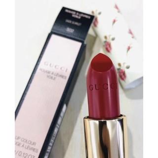 [MÃ COS1204 GIẢM 7% TỐI ĐA 50K ĐƠN TỪ 300K]Gucci Satin 502 Eadie Scarlet Màu đỏ lạnh pha hồng