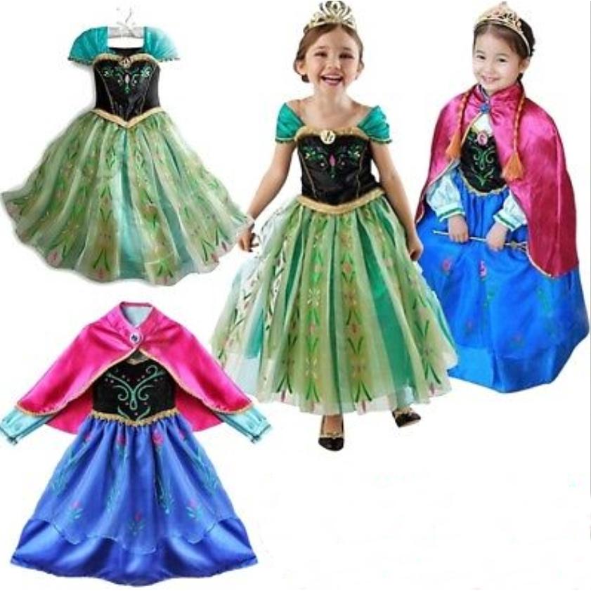 Đầm công chúa băng giá để hóa trang nhân vật Anna trong phim nữ hoàng băng giá