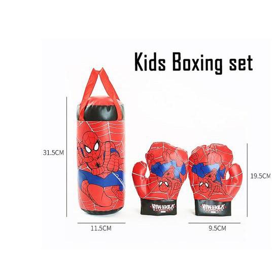 [NOWSHIP]-Bộ đấm bốc trẻ em kèm găng tay- Bộ dụng cụ tập Boxing kèm 2 găng tay cho bé
