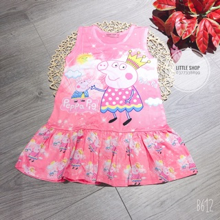 Đầm thun 3D Heo Peppa cho bé gái (10-40kg)