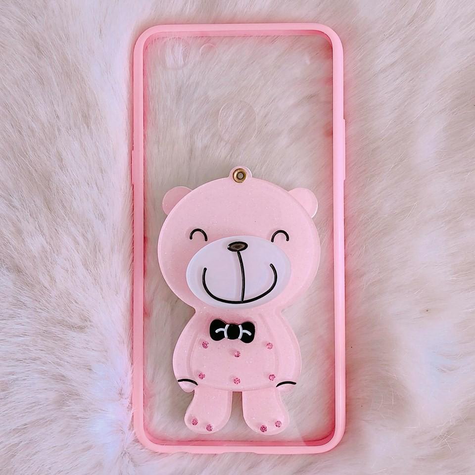 Ốp Oppo F5 gấu gương cute