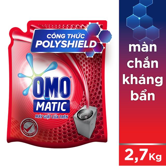 Nước giặt Omo Matic cửa trên túi 2.7kg