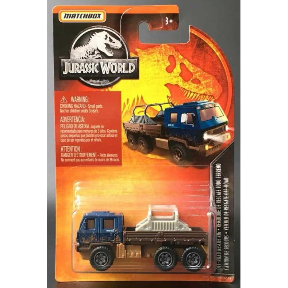 Xe mô hình Matchbox Jurassic World Off-Road Rescue Rig GDN89