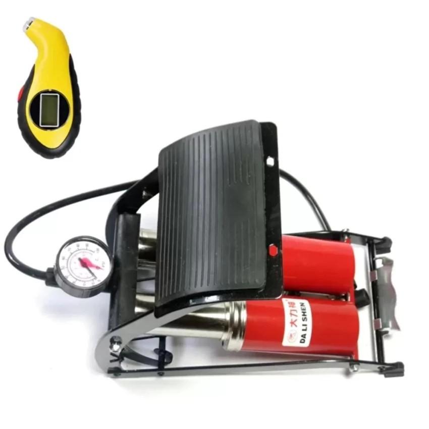 Bộ 1 bơm hơi đạp chân 2 pitton Thiết kế chuẩn và 1 đồng hồ đo áp suất lốp xe điện tử - 3249383 , 342546290 , 322_342546290 , 470000 , Bo-1-bom-hoi-dap-chan-2-pitton-Thiet-ke-chuan-va-1-dong-ho-do-ap-suat-lop-xe-dien-tu-322_342546290 , shopee.vn , Bộ 1 bơm hơi đạp chân 2 pitton Thiết kế chuẩn và 1 đồng hồ đo áp suất lốp xe điện tử