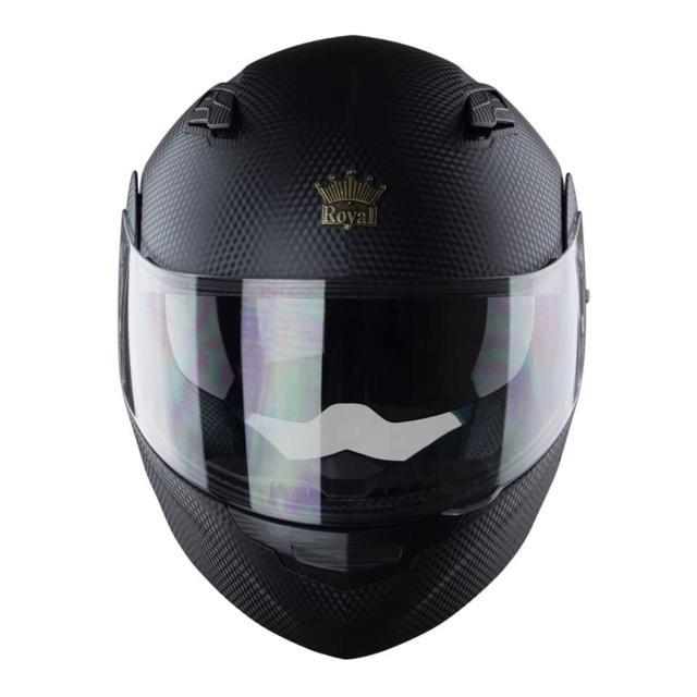 Nón Bảo Hiểm Fullface Royal M179 Vân Carbon - Mũ Lật Cằm 2 Kính Đi Cả Ngày Và Đêm