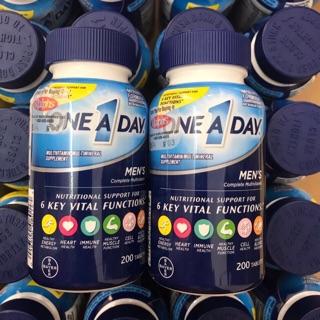 Vien Uống One A Day Men'S Multivitamin Health Formula, 200 Viên, Mẫu Mới Maika Chuyên Úc Mỹ