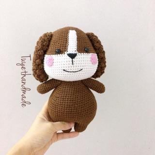 Cún móc handmade cao cấp len Thổ Nhĩ Kỳ – Thú bông len handmade
