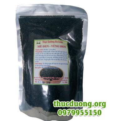 Vừng đen chín (mè đen) 500g thực dưỡng Vừng đen chín (mè đen) 500g thực dưỡng