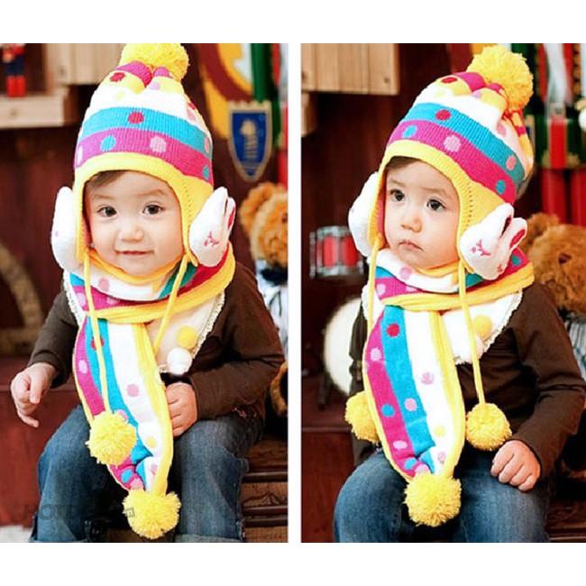 [GIÁ HỦY DIỆT] Bộ khăn mũ len chấm bi hình thỏ cho bé 1 - 3 tuổi, bộ nón len kèm khăn tai thỏ - 9998553 , 739274602 , 322_739274602 , 100000 , GIA-HUY-DIET-Bo-khan-mu-len-cham-bi-hinh-tho-cho-be-1-3-tuoi-bo-non-len-kem-khan-tai-tho-322_739274602 , shopee.vn , [GIÁ HỦY DIỆT] Bộ khăn mũ len chấm bi hình thỏ cho bé 1 - 3 tuổi, bộ nón len kèm khăn