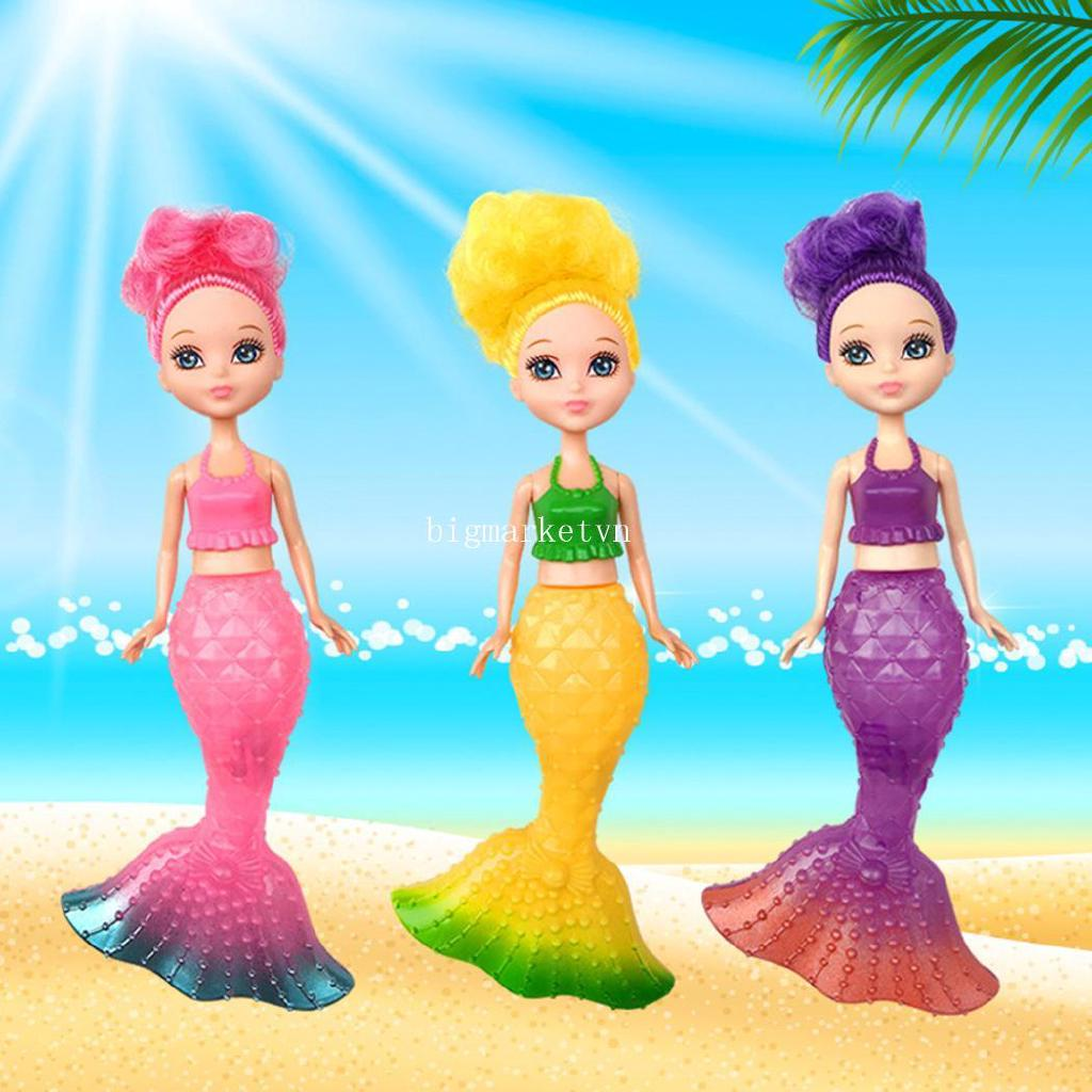 ❤bi❤ Flash LED Light Swimming Mermaid Princess Educational Doll Girls Toy