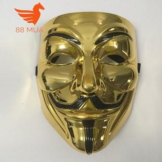 mặt na hacker halloween màu vàng