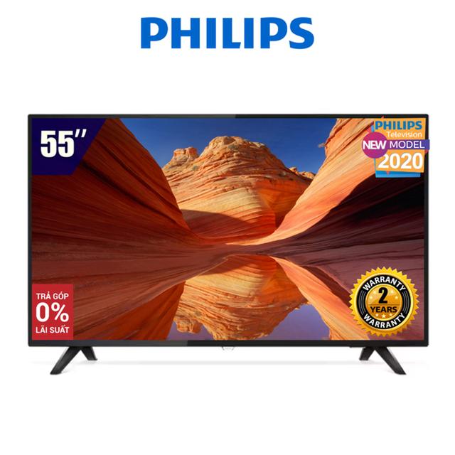 Smart Tivi Philips 55 Inch 4K UHD 55PUT6103S/67 (Netflix Remote) - Hàng Chính