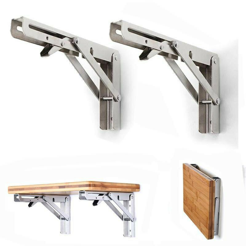 Bộ giá đỡ ke bàn gấp treo tường thông minhthép không gỉ, size 25cm và 35cm ke tường