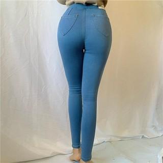 Quần Jean Nữ, quần jean ôm nữ dáng đẹp JBT01 2 nút Xanh Nhạt