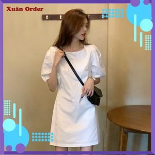 (Order 7-12 ngày, bigsize S-4XL) Váy Váy Ngắn Tay Của Phụ Nữ Mùa Hè Năm Mới Kiểu Pháp Gió Nhẹ Nhàng Váy Tiên – TM496