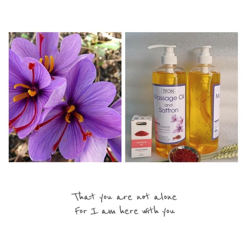Dầu Massage Body với Saffron Oil có ngâm Nhuỵ Hoa Nghệ Tây trong dầu (chai 250ml)