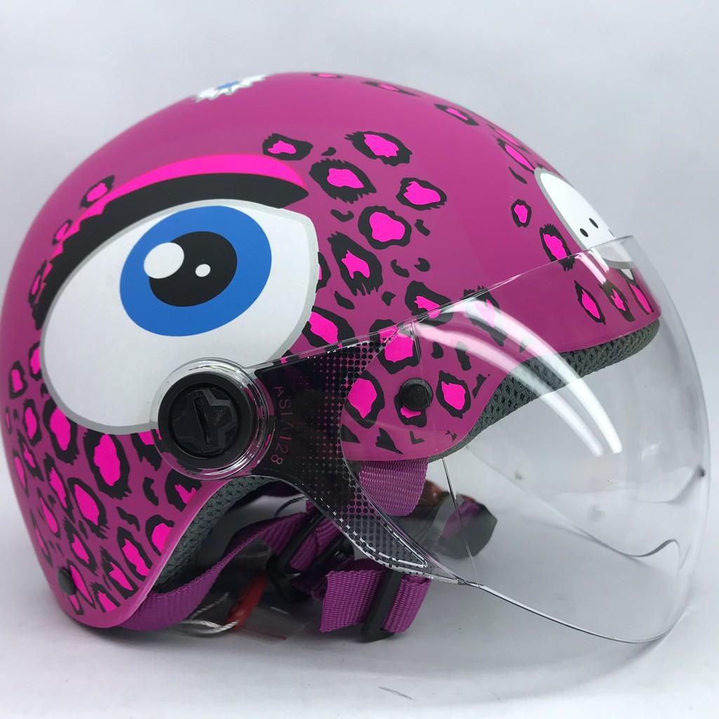 Mũ bảo hiểm trẻ em có kính Asia MT103s hồng
