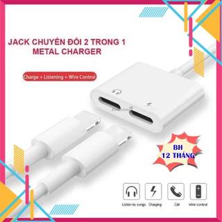 Jack Chuyển Đổi Vừa Sạc Vừa Cắm Tai Nghe (Chia 2 Cổng Chân Lightning Cho Các Dòng iPhone)