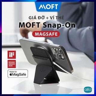🔥Giá Đỡ Điện Thoại + Ví Đựng Thẻ MOFT Snap-On MagSafe iPhone 12, Sử Dụng Từ Tính Không Dán Keo, Ngăn Để 3 Thẻ Tiện Lợi