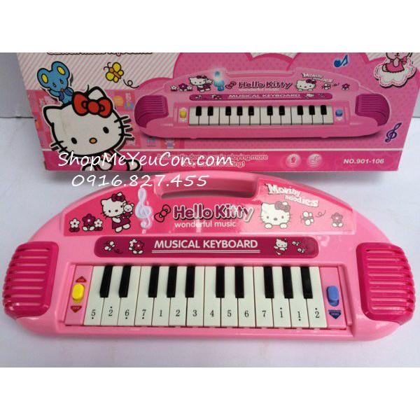 Đàn organ Hello Kitty quai cầm
