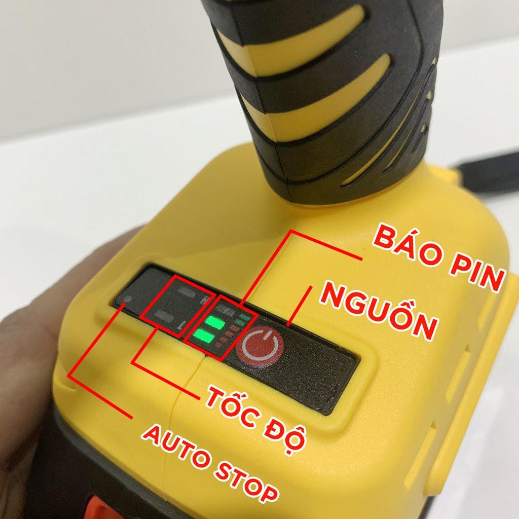 [FreeShip] Máy Siết Bulong dùng Pin Dewalt 118V 100% Lõi Đồng, TẶNG ĐẦU KHẨU VÀ ĐẦU CHUYỂN VÍT, Máy Bắn Vít, Pin 10 Cell