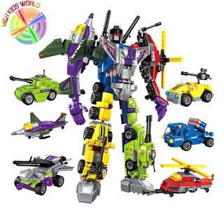Đồ chơi lắp ghép kiểu LEGO Creative Master 6 in 1 mô hình Transformer, bộ ghép hình cho trẻ phát triển tính sáng tạo