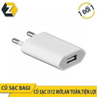 Củ sạc dẹt iPhone, iPad Bagi CE-I51Z tiêu chuẩn châu Âu 5V 1A chính hãng thumbnail