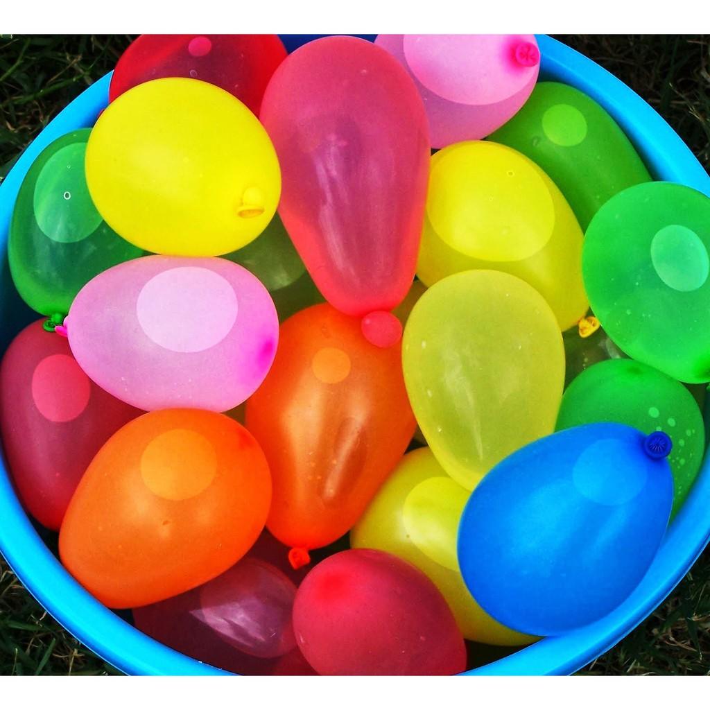 Bong bóng ném nước tròn trơn đủ màu( 100 cái )