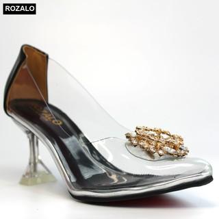 Giày cao gót nữ 7P trong suốt Rozalo R8007 thumbnail