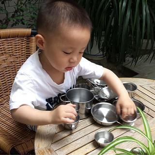 Bộ đồ chơi inox nấu bếp 40 chi tiết cho bé yêu chơi đồ hàng