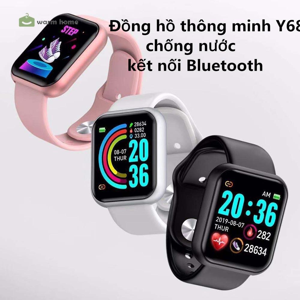 【YKN】Đồng hồ thông minh Y68 chống nước kết nối bluetooth hỗ trợ theo dõi sức khỏe