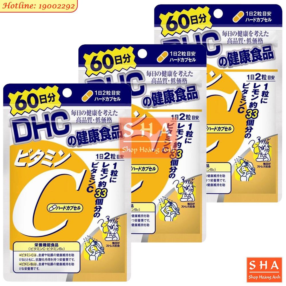 ??(Giá sỉ) Combo 3 gói Vitamin C DHC 120v (60 ngày)