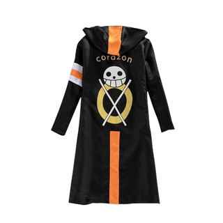 One Piece Cosplay Costume Trafalgar Law Cloak Men Adult Black Overcoat Japanese Anime long Sleeve With Hat Cool Style