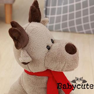 ✪B-BCute Christmas 28cm Elk Doll Plush Toy Christmas Child Doll Xmas Gifts for Girls