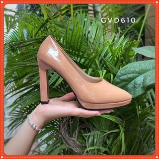 Giày cao gót nữ đế đúp 10p chất da bóng full 2 màu