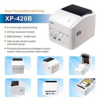 Máy in XP420B in đơn hàng tem nhãn vận chuyển bằng điện thoại iphone Adroid máy tính Macbook Windown qua Wifi LAN thumbnail