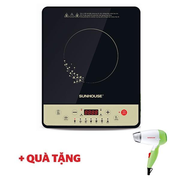 Bếp điện từ cơ SUNHOUSE SHD6148 1800W - Tặng máy sấy tóc SHD2301 xanh