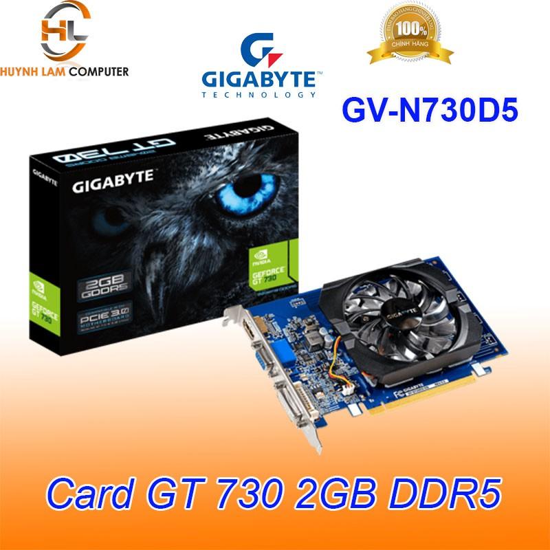 Card màn hình Gigabyte GT 730 2GB DDR5 GN-N730D5 - Viễn Sơn phân phối