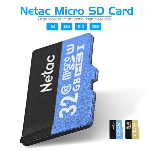 Thẻ TF Netac P500 MicroSD 32 GB class10 U1 SDHC cho điện thoại di động - camera ip