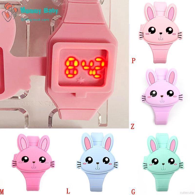 Cartoon Animal Design LED Silicone Wrist Watch Digital Watches