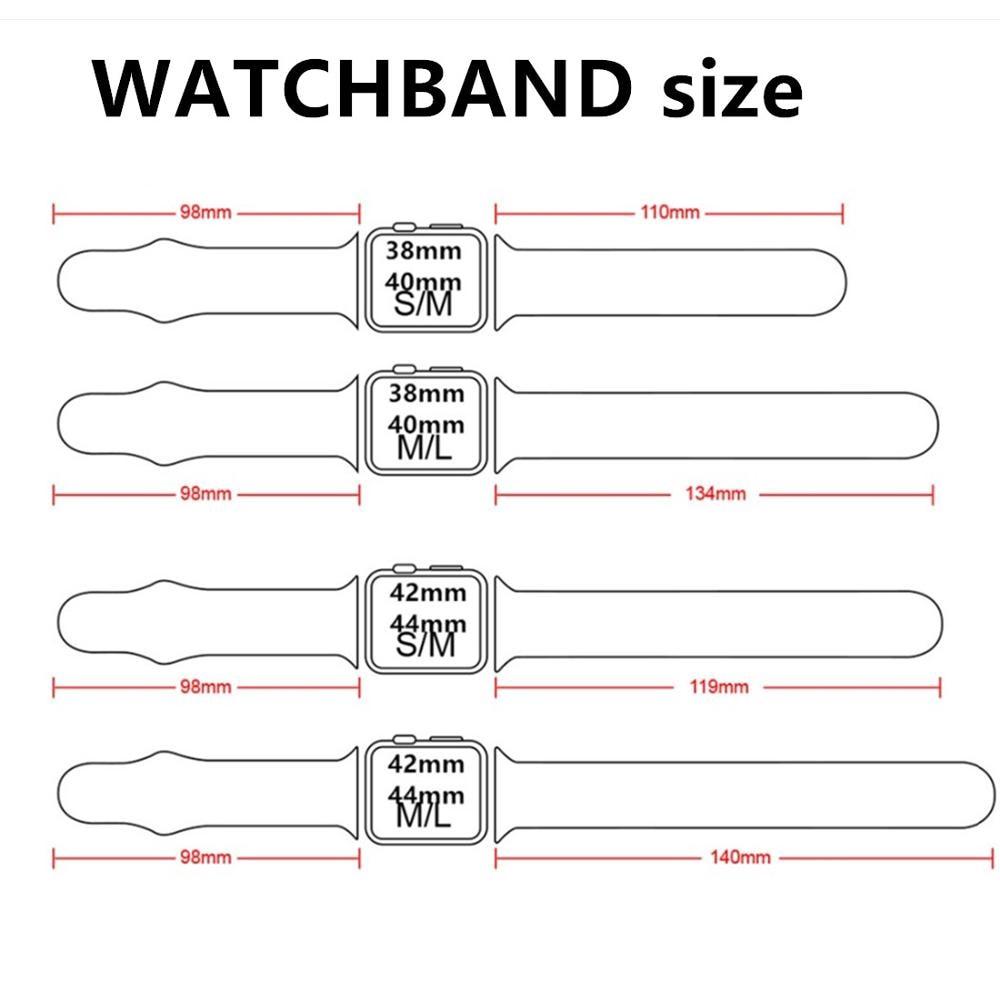 Dây silicon thay thế cho đồng hồ thông minh đeo tay iWatch 2020 38mm 42mm 44mm 40mm 5 4 3 2 1