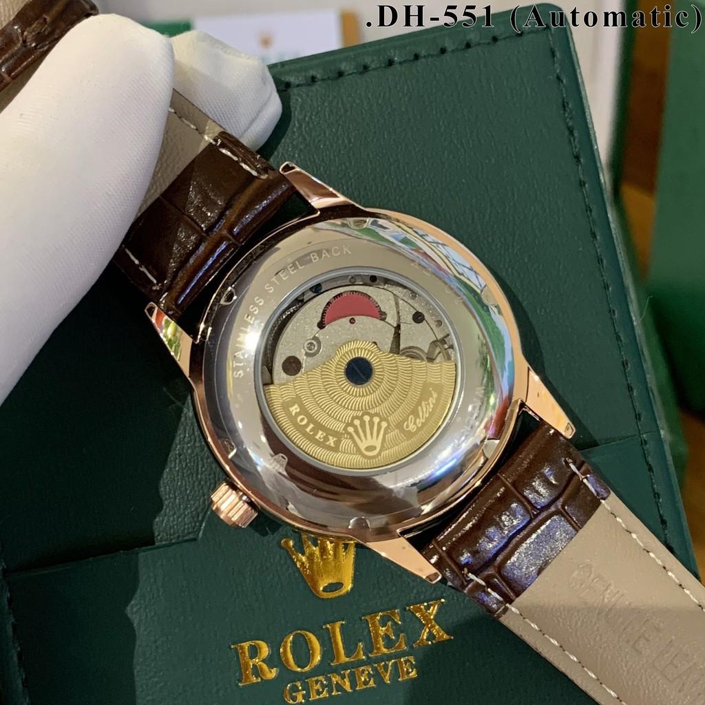 Đồng hồ nam ROLEX máy cơ - Dây da xịn chống nước - Bảo hành 24 tháng