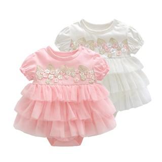 Váy ren hoa công chúa sơ sinh 0-12 tháng