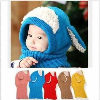 [BÃO GIẢM GIÁ] phụ kiện thời trang cho bé - Mũ Len Kèm Khăn Lông Cừu Cho Bé | Toàn Quốc