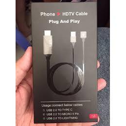 Cáp HDMI ra tivi đa năng dùng cho tất cả các đt smart phone hiện nay - 3028428 , 319691068 , 322_319691068 , 240000 , Cap-HDMI-ra-tivi-da-nang-dung-cho-tat-ca-cac-dt-smart-phone-hien-nay-322_319691068 , shopee.vn , Cáp HDMI ra tivi đa năng dùng cho tất cả các đt smart phone hiện nay