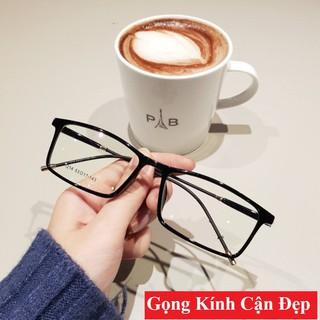 Gọng kính cận nữ nam - Gọng kính mắt giả cận tròng vuông thời trang Hàn Quốc - Q1215