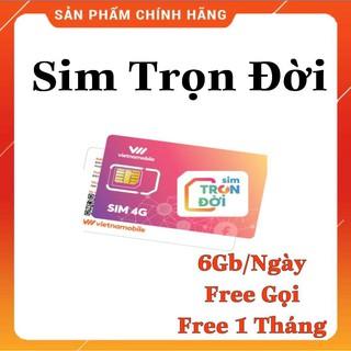 Sim 4G Vietnamobile Gói Cước Trọn Đời 6Gb/Ngày (180Gb/Tháng)