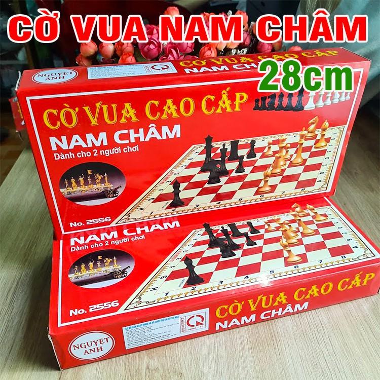 Bộ cờ vua nam 28cm có châm hút bàn cờ có thể gấp gọn