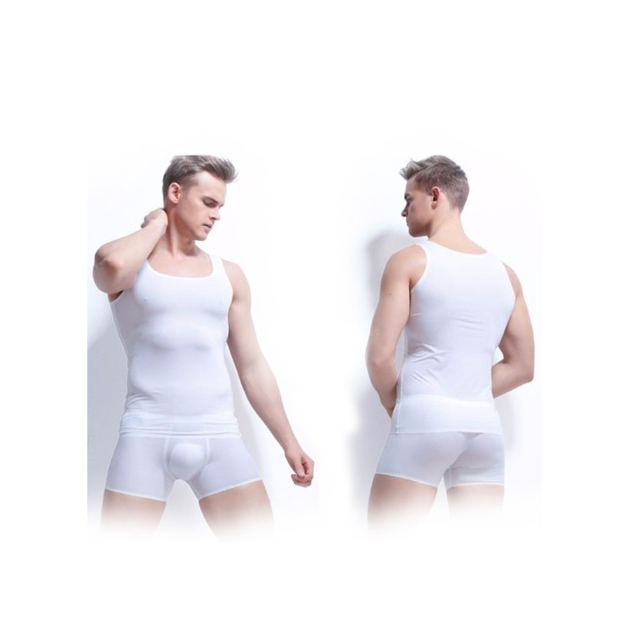 COMBO 02  áo lót nam kiểu ba lỗ trắng - Hàng Việt Nam